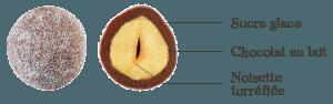 Noisettes au Chocolat au Lait Bio