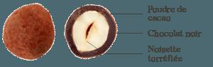 Noisettes au Chocolat Noir Cacao Bio
