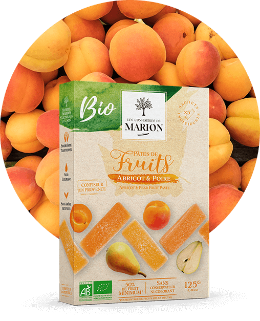 Pâtes de fruits Abricot et Poire BIO